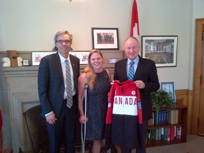 GAetan, Stephanie & minister Nicholson
